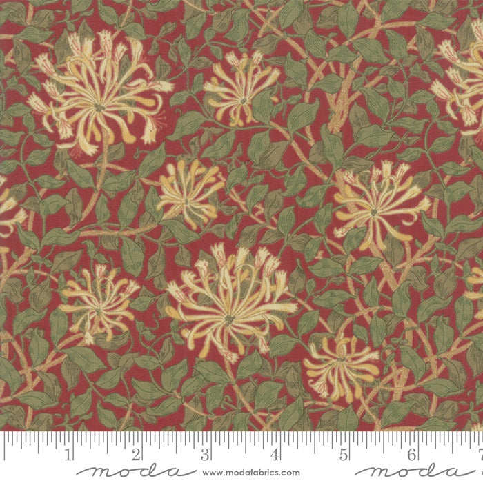 Moda May William Morris Studio by V&A  Crimson Lonicera