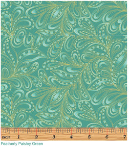 Cat-i-tude Featherly Paisley Green
