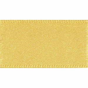 Double Satin Ribbon 25mm Gold