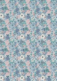 Lewis and Irene Michaelmas Multi Floral on Light Blue