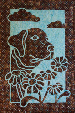 Hawaiian Dog and Daisy Quilt Pattern