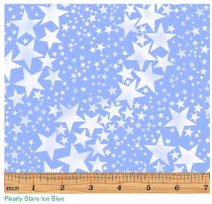 Bernatex Pearly Stars Ice Blue