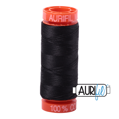 Aurifil Very Dark Grey 4241 50wt 200m
