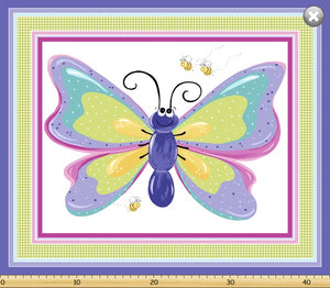 Large Butterfly Panel Purple