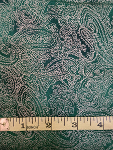 Green and Gold Paisley