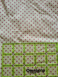 Cream with Dusky Pink Polka Dot Cotton Poplin