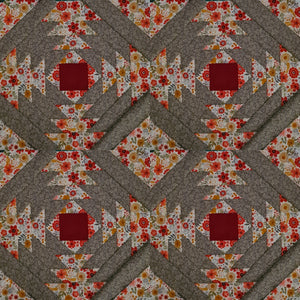 Pineapple Foundation by the Yard Quilt Kit Grey/Multi
