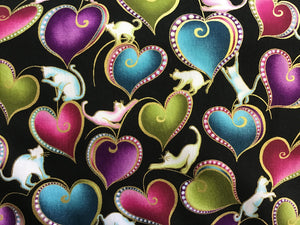 Cat-i-tude Cats & Hearts Metallic