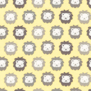 Robert Kaufman Cozy Cotton Flannel Lions on Yellow