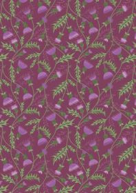 Celtic Coorie All over Thistle on Purple