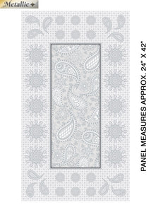 Bernatex Jubilee Embroidery Panel Silver