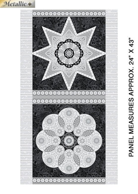 Bernatex Jubilee Ruler Panel Black and Silver