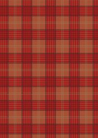 Celtic Coorie Red & Warm Orange Check