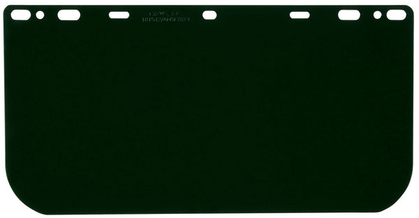 "181542 - Head Gear/Face Shields-8""x15.5 .040, Dark Green Polycarbonate Faceshield"