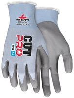 92718PU - Cut Pro™ 18 Gauge, Light Blue HPPE/Synthetic Shell, Gray PU Palm/Fingers