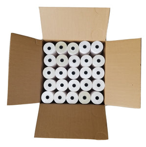 "3"" X 165' White 1-Ply Bond Receipt Roll Paper (50 Rolls) Canada by Papertec"