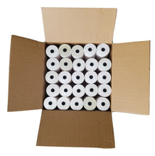 "Load image into Gallery viewer, 3"" X 90' White/Yellow 2-Ply Carbonless Paper Rolls (50 Rolls) Canada by Papertec"
