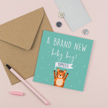 Load image into Gallery viewer, New Baby Boy Card
