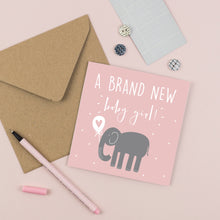 Load image into Gallery viewer, New Baby Girl Card
