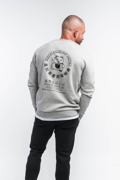 Hochburg Sriracha Crewneck Sweatshirt - heather grey