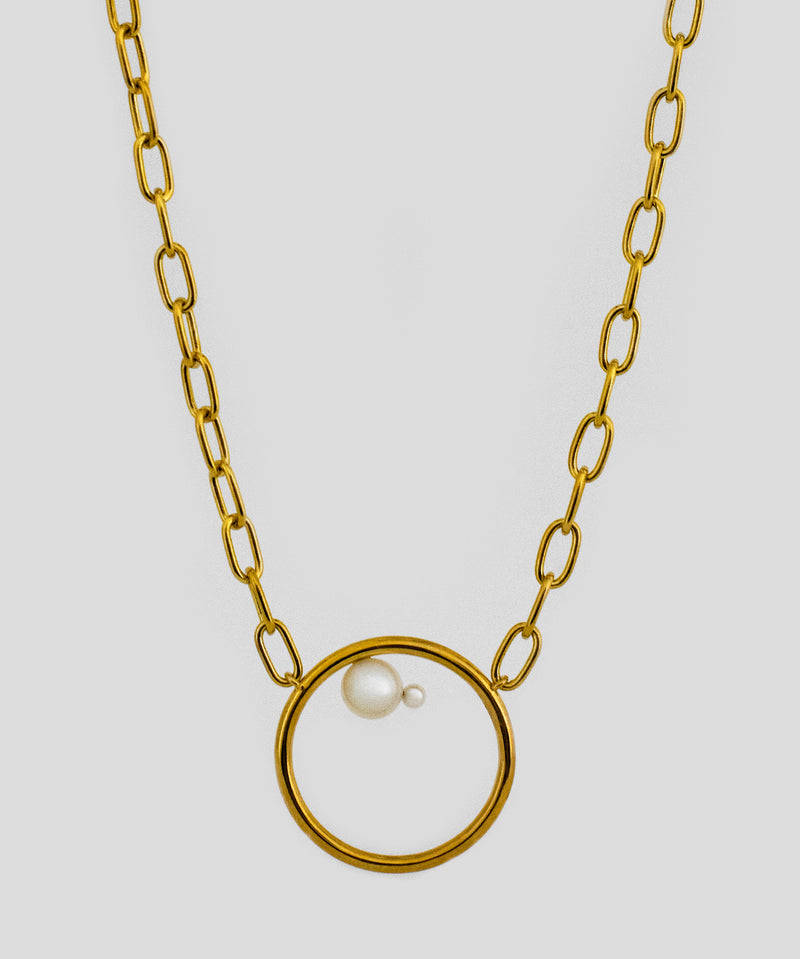 Allegra Pearl Necklace - Gold