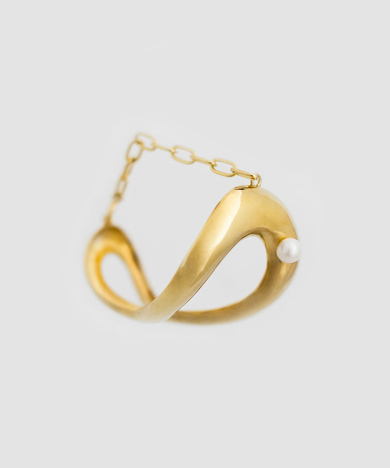 Amelie Pearl Cuff - Gold
