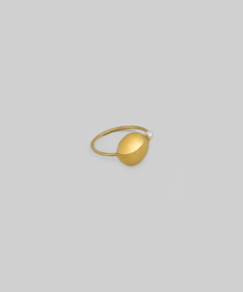 Ava Pearl Ring - Gold
