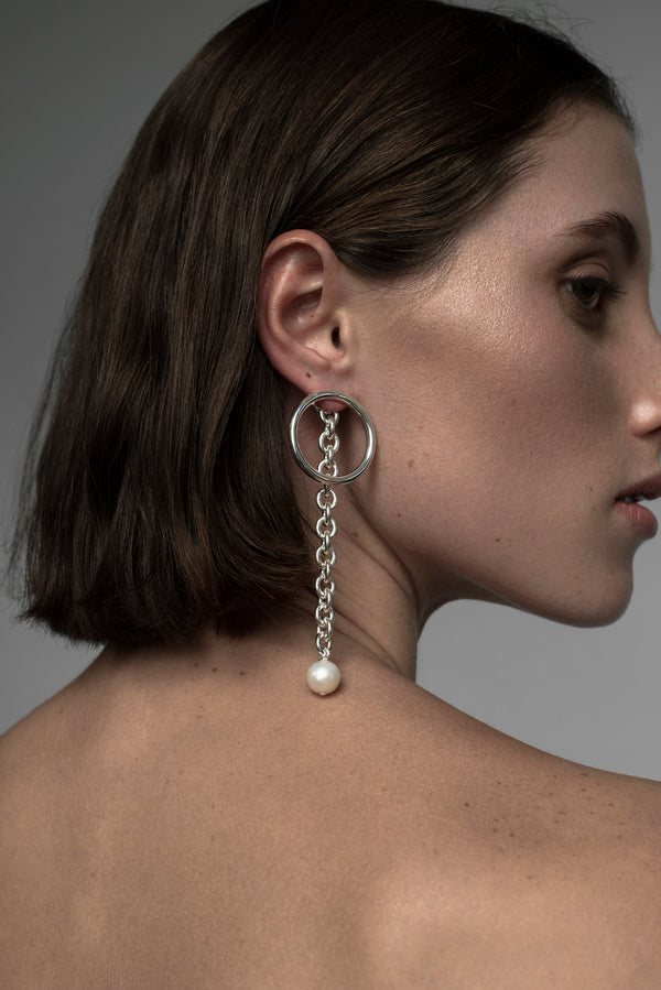 Allegra Earring - Rhodium