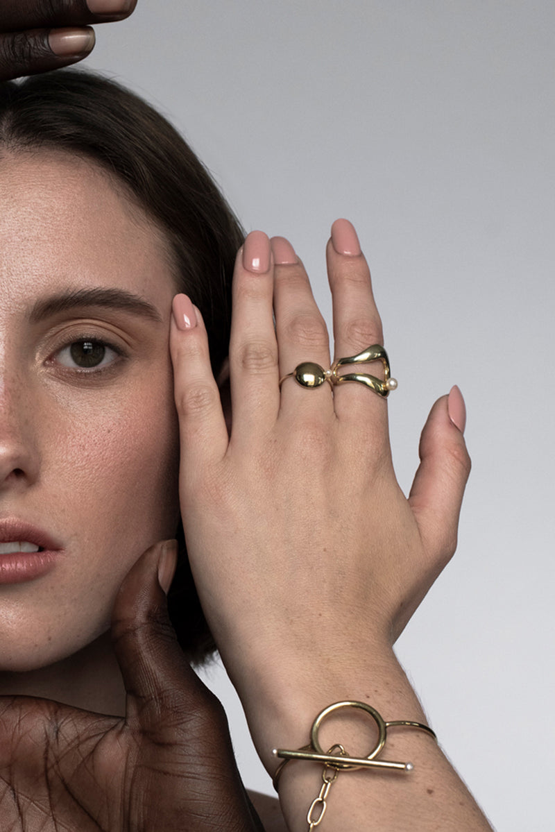 Amelie Pearl Ring - Gold