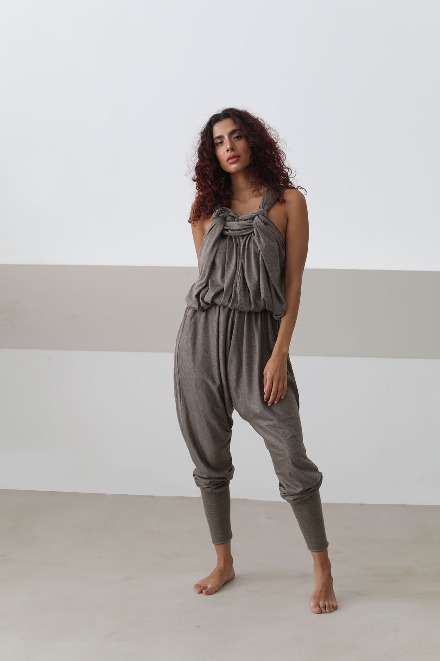 Sleeveless Viscose Overall