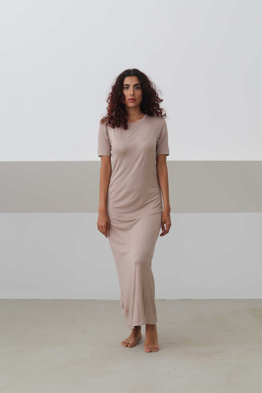 Short-Sleeved Maxi Dress