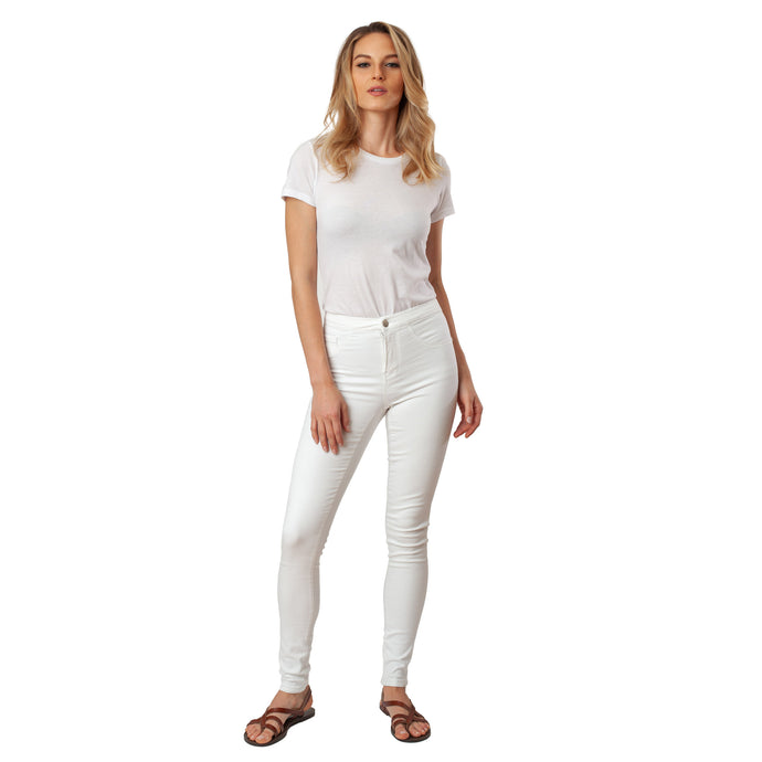 White Jeans Basic Signature Style - Ceniajeans