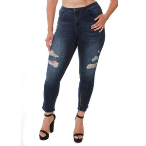 CCJ6008 Ripped Leg Fashion Style - Ceniajeans