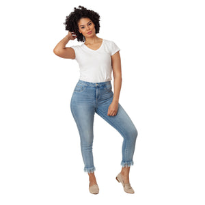 Fashion Style Fringed Leg Jeans - Ceniajeans