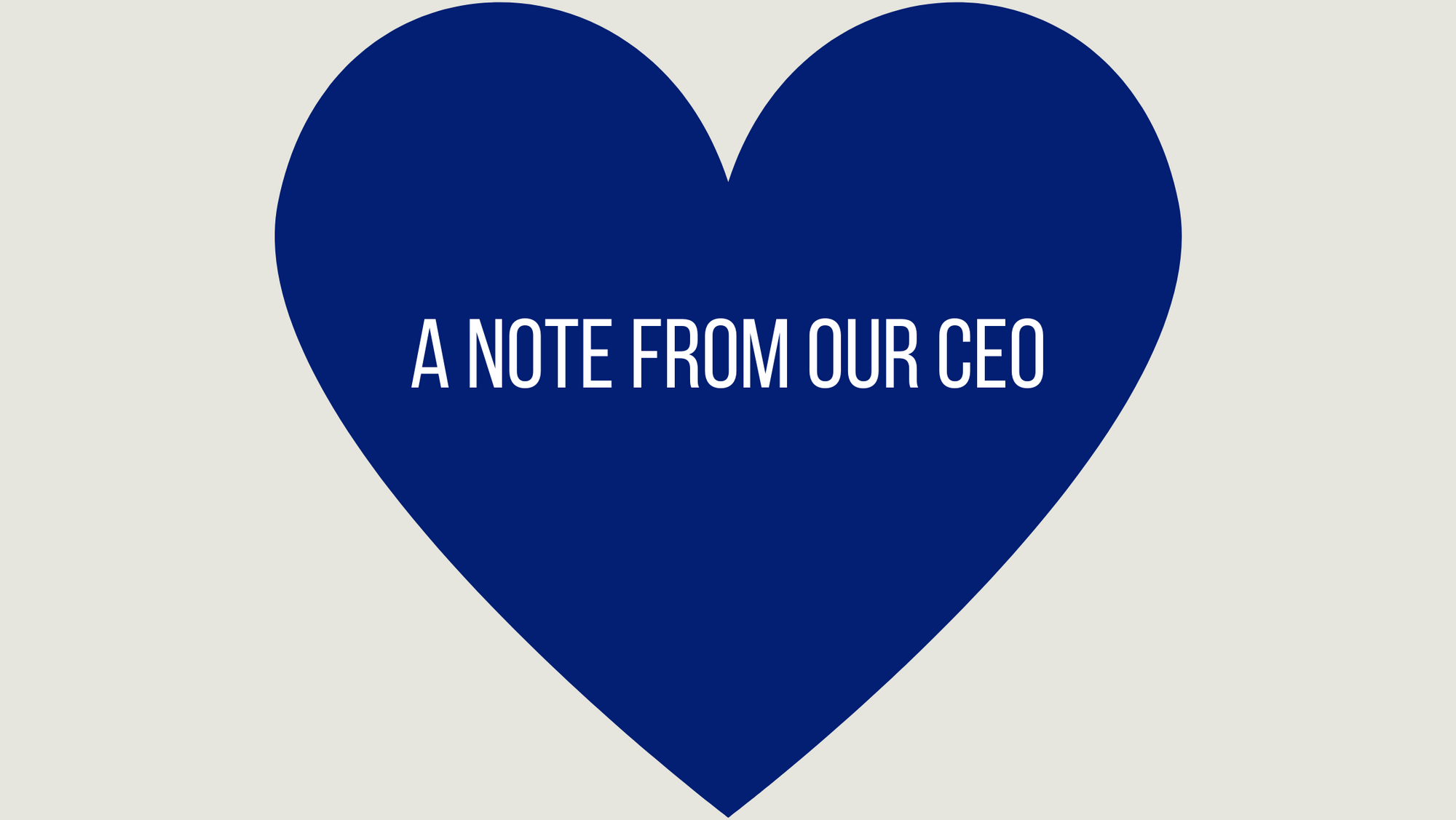 A note from our CEO - END RACISM