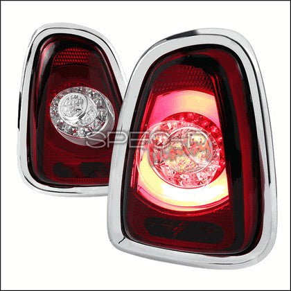 Spec D F56 Style Tail Lights - LED, Red Color For Gen 2 MINI R56,R57,R58,R59 - Tuned Motoring