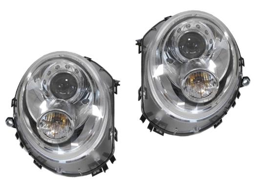 Helix/Depo Chrome Projector Headlights (Pair) For R55,R56,R57 - Tuned Motoring
