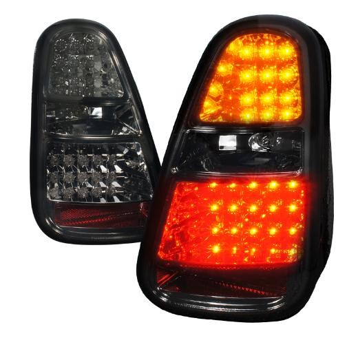 Spec D LED Smoke Tail Lights For Gen 1 Mini Cooper R50, R52, R53 - Tuned Motoring