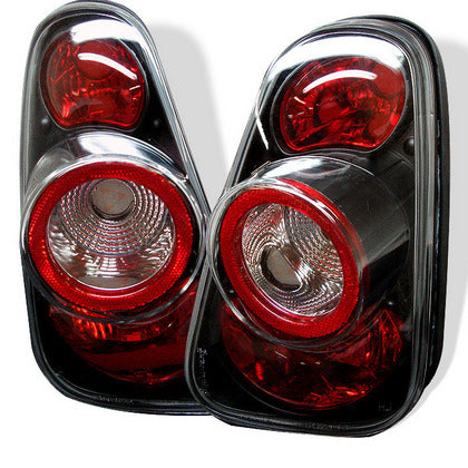 Spyder Altezza Black, Euro Style Tail Lights For Gen 1 Mini Cooper R50, R52, R53 - Tuned Motoring