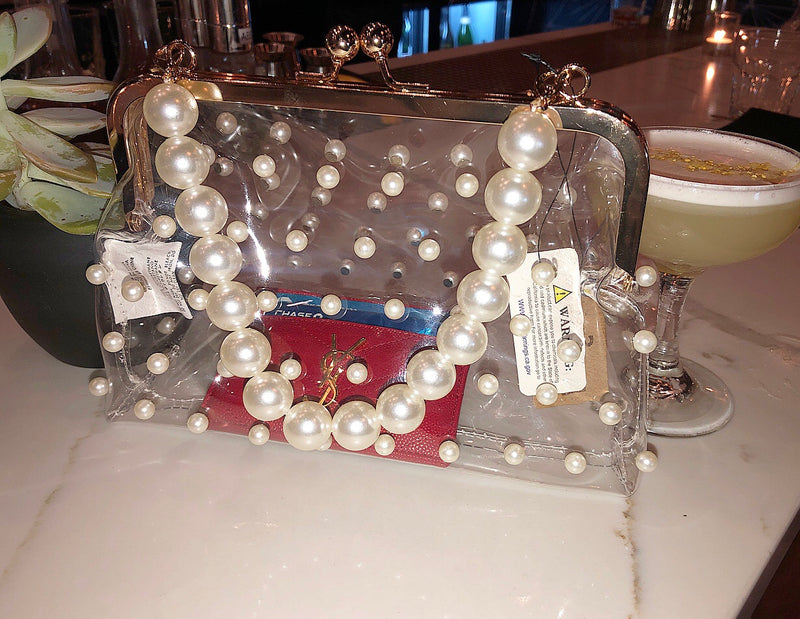 Clearly Pearled Handbag
