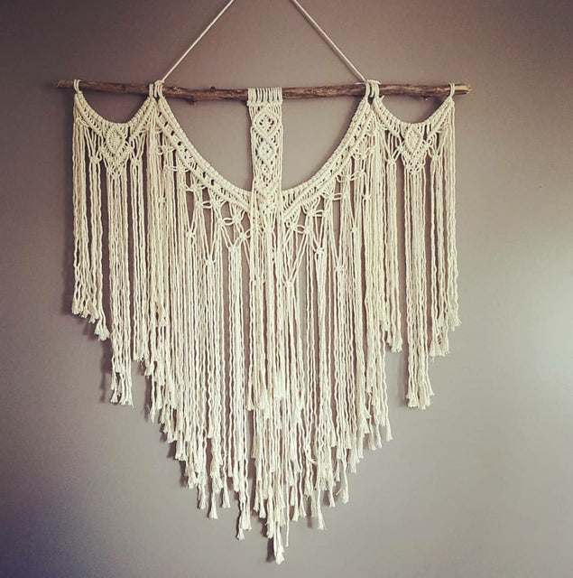 large custom handcrafted macrame wall hanging