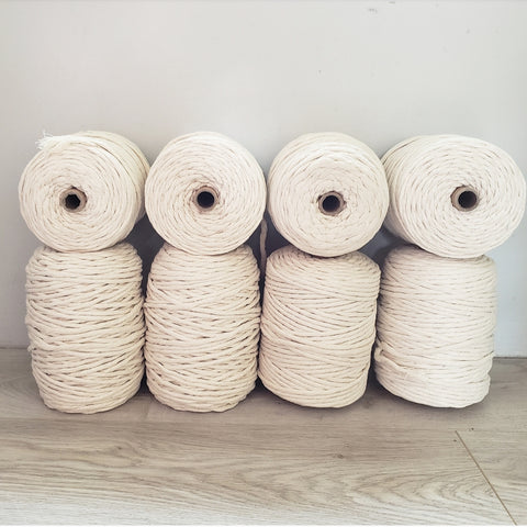 Cotton Rope Single Strand- Natural