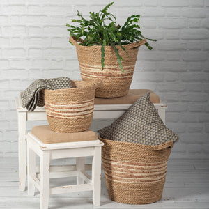 Varicolored Rattan Baskets