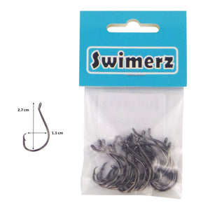 Swimerz 1/0 Octopus Circle Hooks, 25 pack
