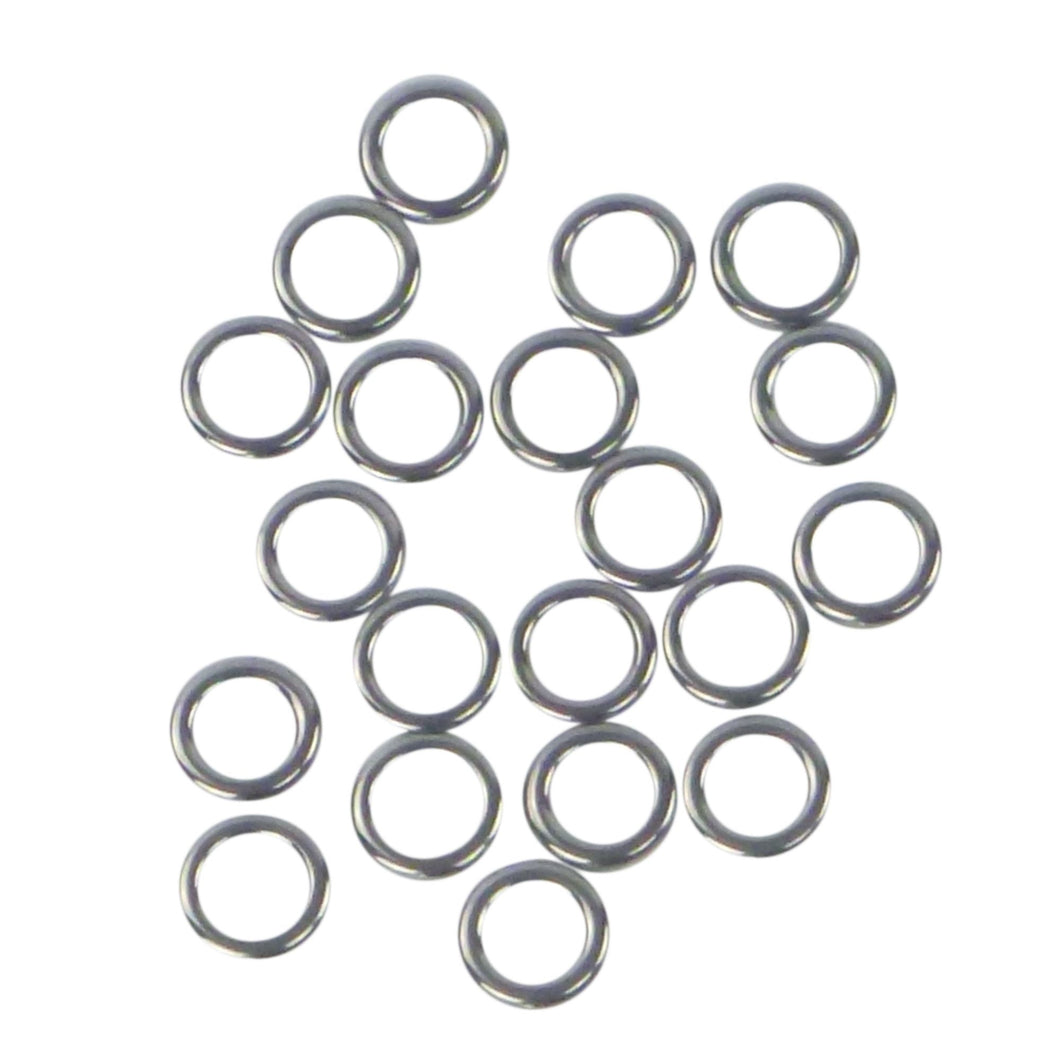 Swimerz Solid Jigging Rings, 11mm, 20 pack