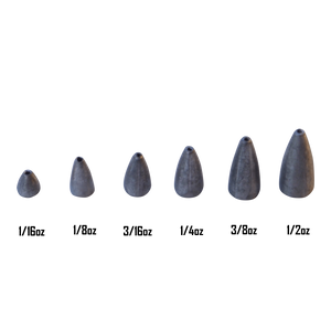 Swimerz 3/8 oz Lead Bullet Sinker - Qty 10 Pack