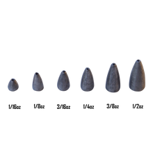 Load image into Gallery viewer, Swimerz 3/16 oz Lead Bullet Sinker - Qty 15 Pack