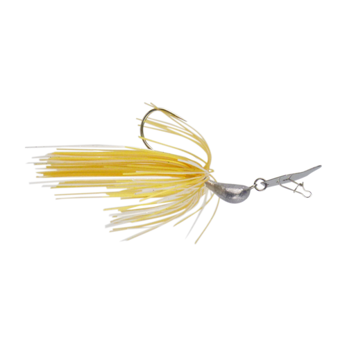 Dekoi 7gm Bladed Swim Jig, Chatterbait, Gold Shine, 2 pack