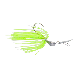 Dekoi 7gm Bladed Swim Jig, Chatterbait, Green Flash, 2 pack