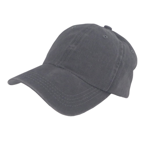 BSTC 6-Panel Baseball Cap, Distressed Cotton, Grey
